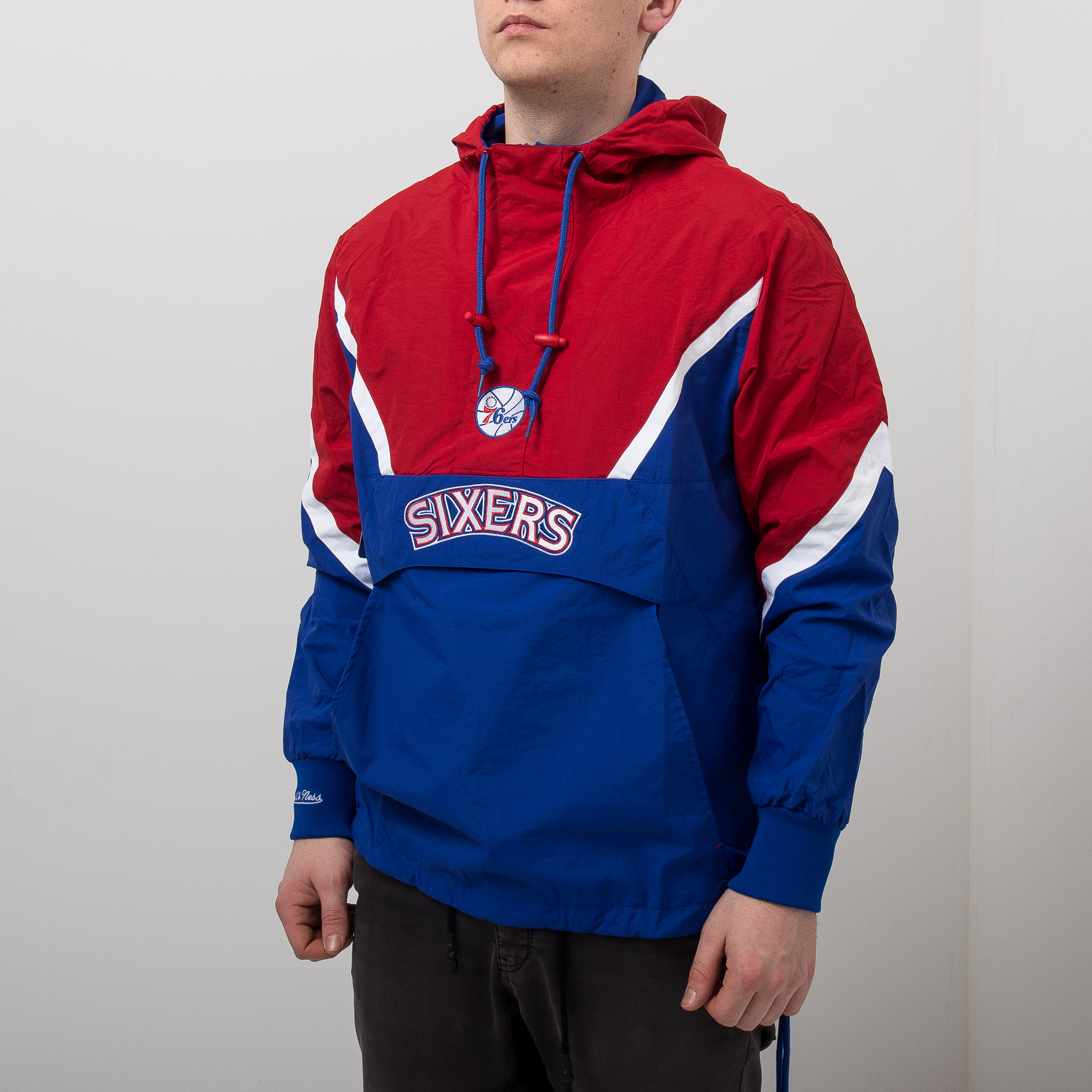 d589bc60554 Mitchell & Ness NBA Philadelphia 76ers Half Zip Anorak Jacket - NBA Shop  Philadelphia 76ers Merchandise - Superfanas.lt