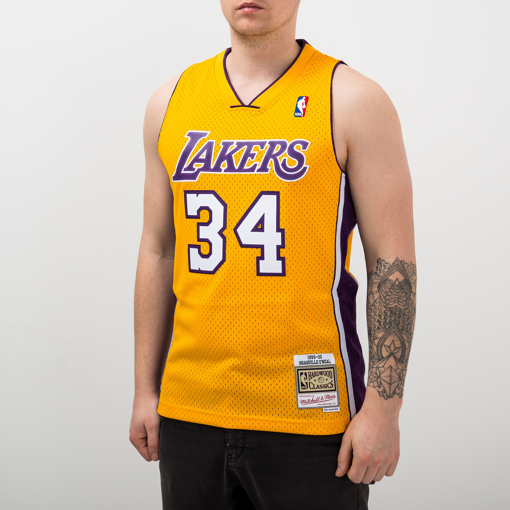 46b8cc9ef64 Mitchell   Ness NBA Los Angeles Lakers Shaquille O Neal 1999-00 Home  Swingman Jersey - NBA Shop Los Angeles Lakers Merchandise - Superfanas.lt