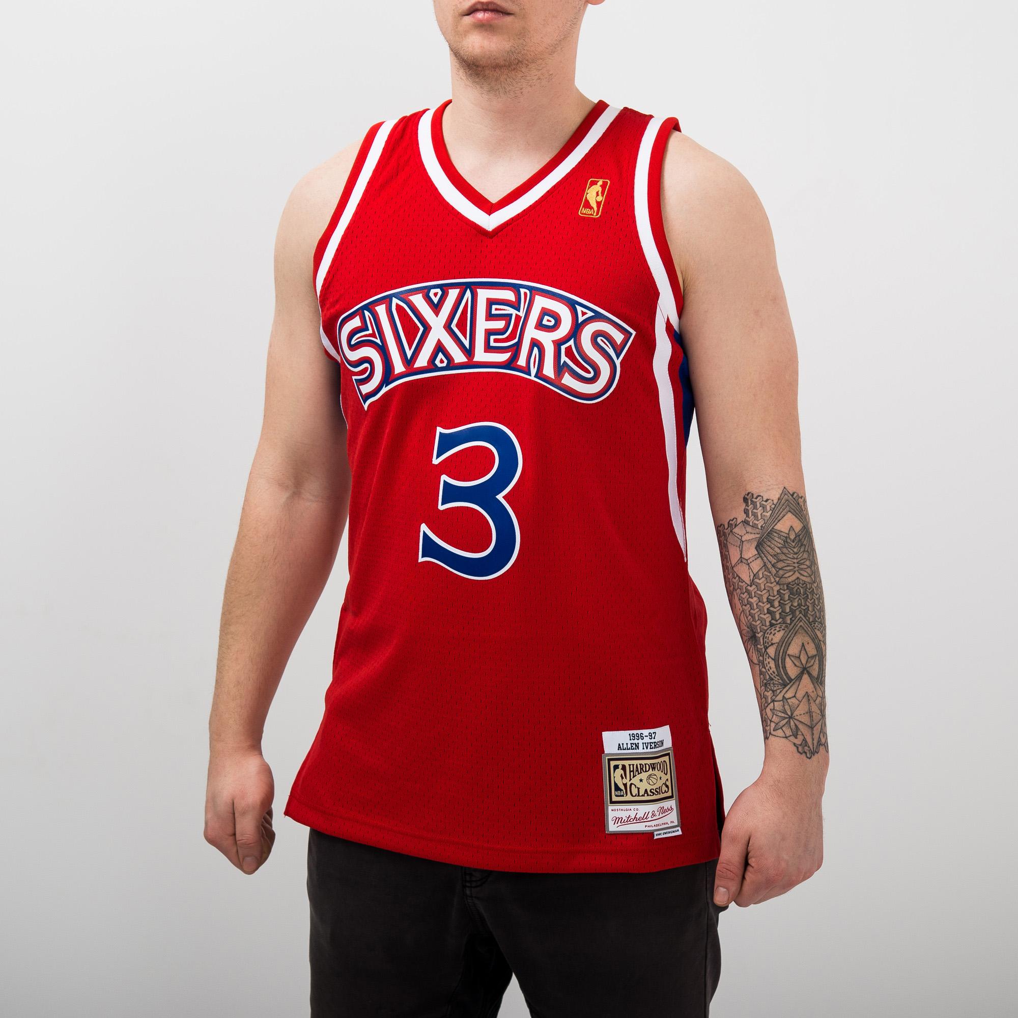 250c4c0a76b8 Mitchell   Ness NBA Philadelphia 76ers Allen Iverson 1996-97 Alternate  Swingman Jersey - NBA Shop Philadelphia 76ers Merchandise - Superfanas.lt