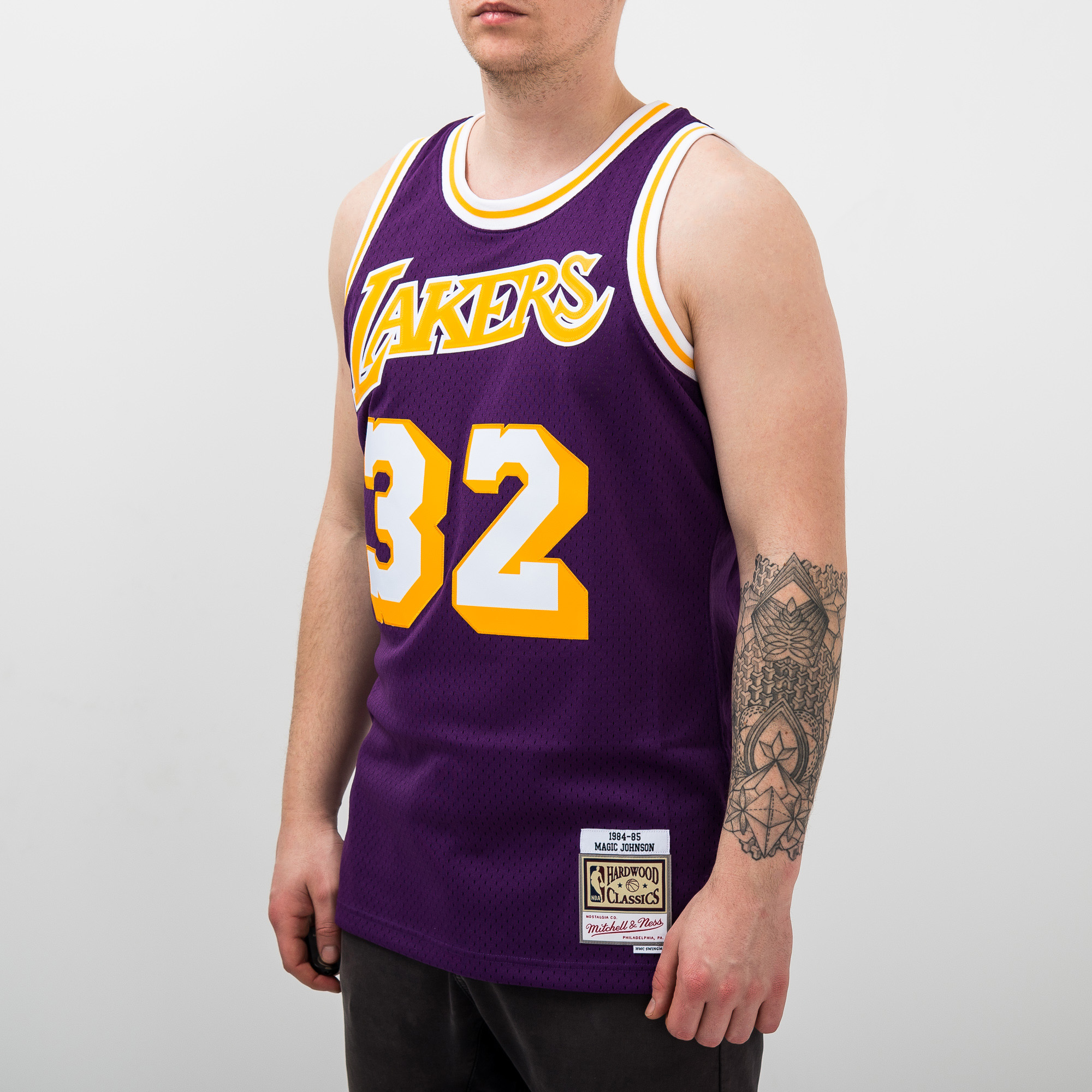 a8fdf04f5 Mitchell   Ness NBA Los Angeles Lakers Magic Johnson 1984-85 Swingman  Jersey - NBA Shop Los Angeles Lakers Merchandise - Superfanas.lt
