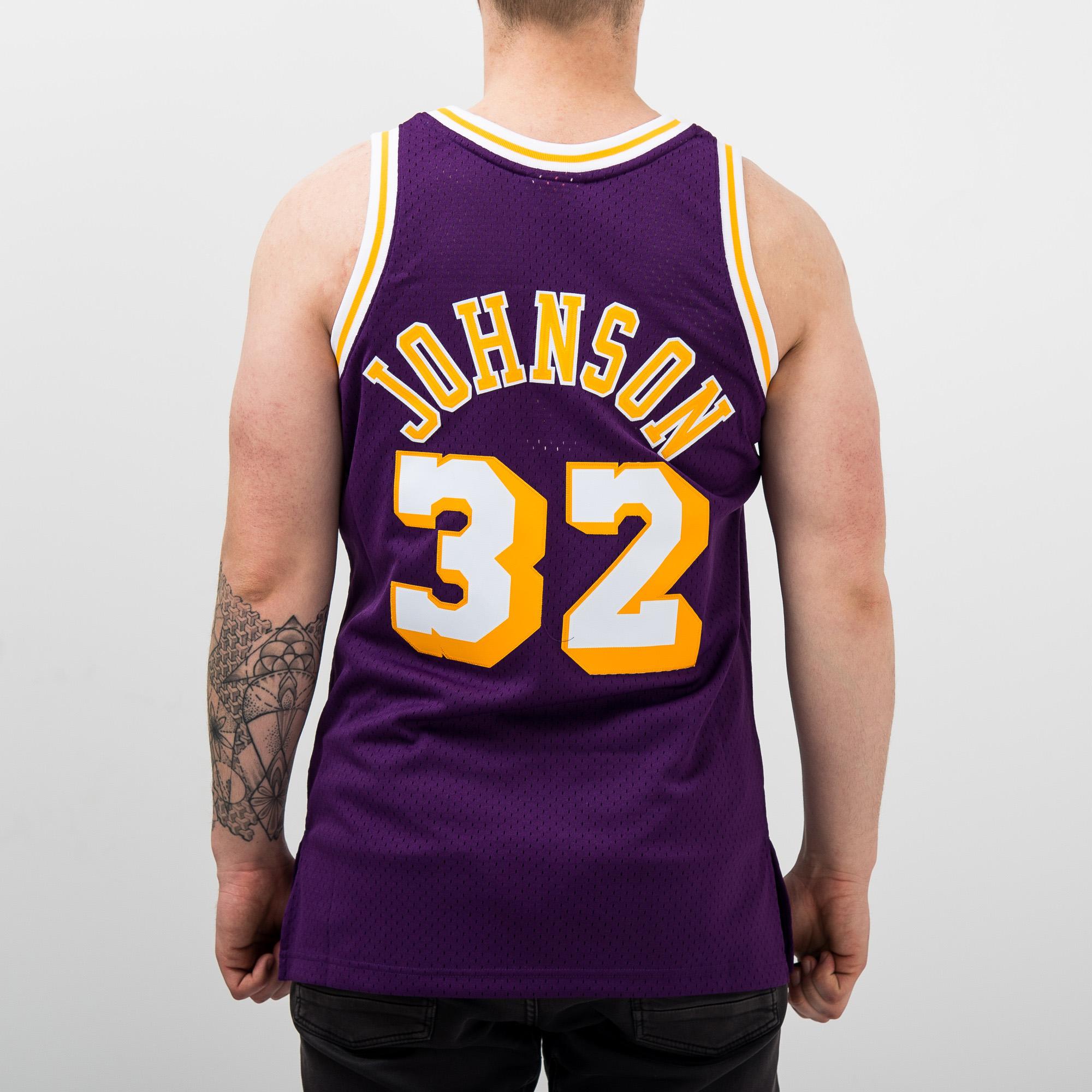 f91db0ea270 Mitchell   Ness NBA Los Angeles Lakers Magic Johnson 1984-85 Swingman Jersey