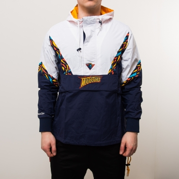 Mitchell & Ness NBA Golden State Warriors Half Zip Anorak plona striukė