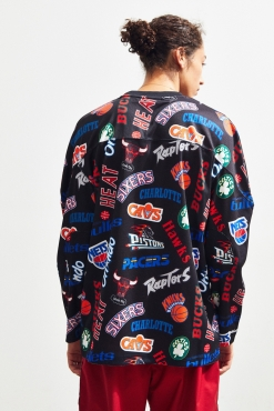 Mitchell & Ness NBA All Over Eastern Hockey Long Sleeve Jersey marškinėliai