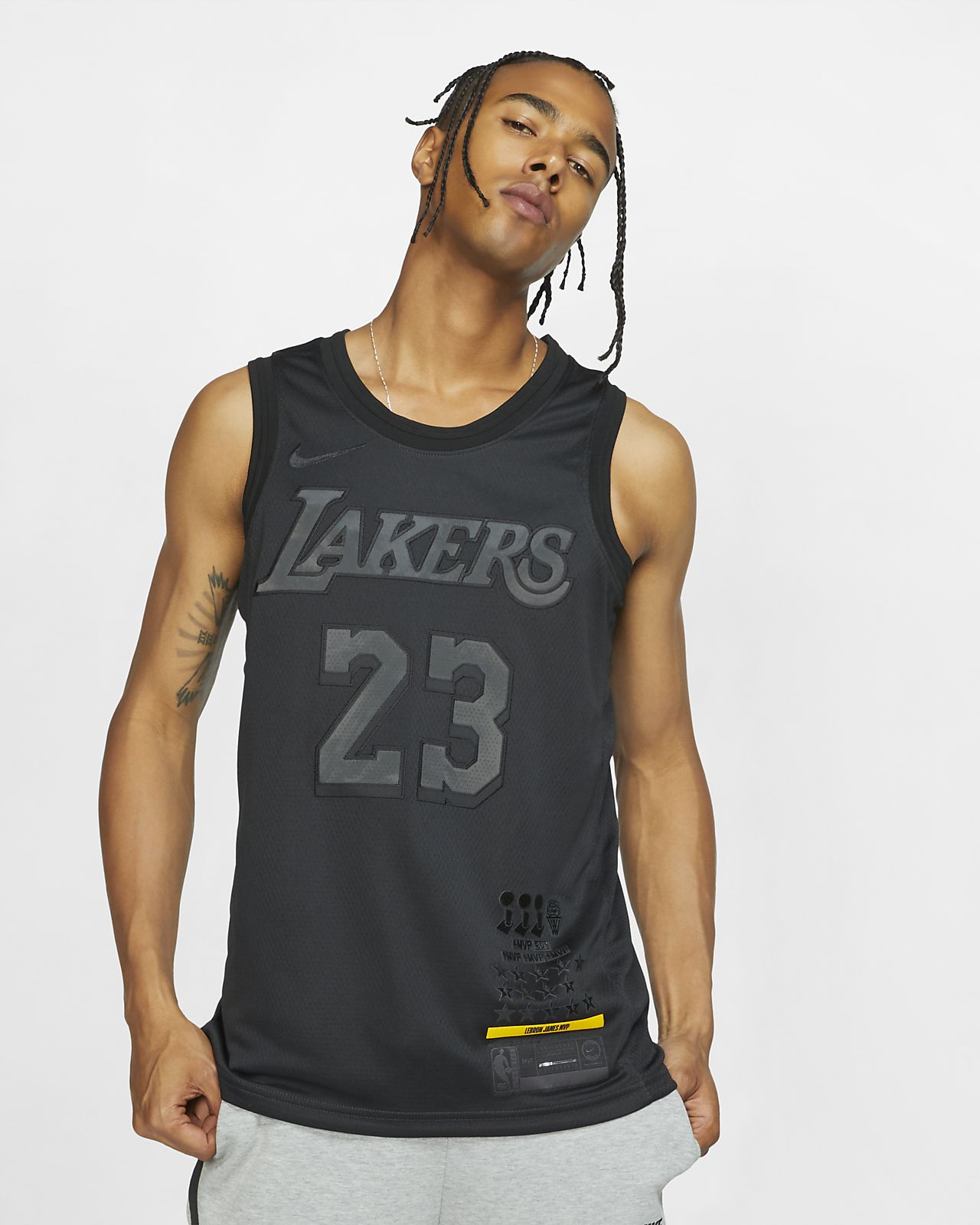 super popular 69937 76211 Nike NBA Los Angeles Lakers LeBron James MVP Swingman Jersey ...
