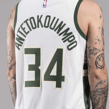 Nike NBA Milwaukee Bucks Giannis Antetokounmpo Association Edition Swingman marškinėliai