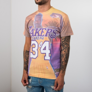 Mitchell & Ness NBA City Pride Los Angeles Lakers Shaquille O'Neal marškinėliai