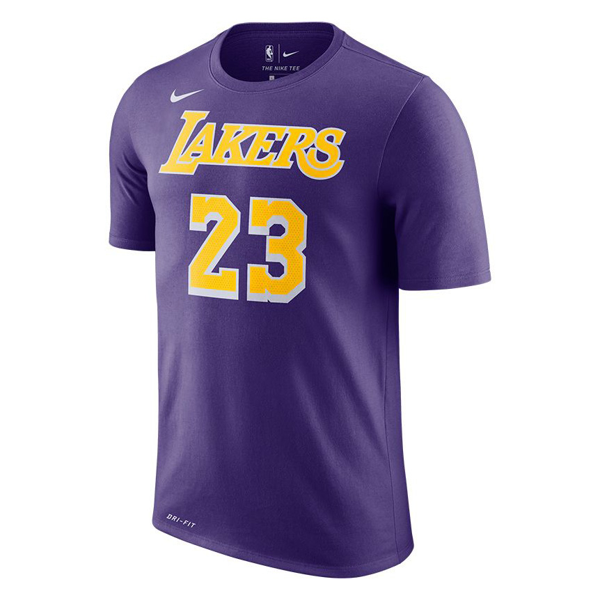 big sale 3c0b7 c323d Nike NBA Los Angeles Lakers LeBron James Dri-FIT Tee - NBA ...