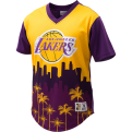 Mitchell & Ness NBA Los Angeles Lakers Game Winning Shot Mesh V-Neck T-Shirt