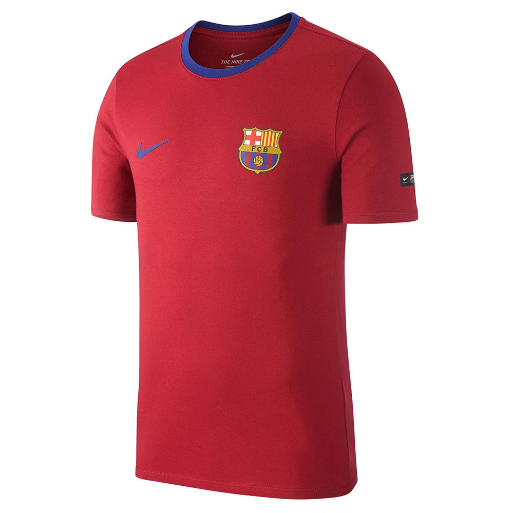nike fc barcelona crest tee soccer merchandise barcelona fc merchandise. Black Bedroom Furniture Sets. Home Design Ideas