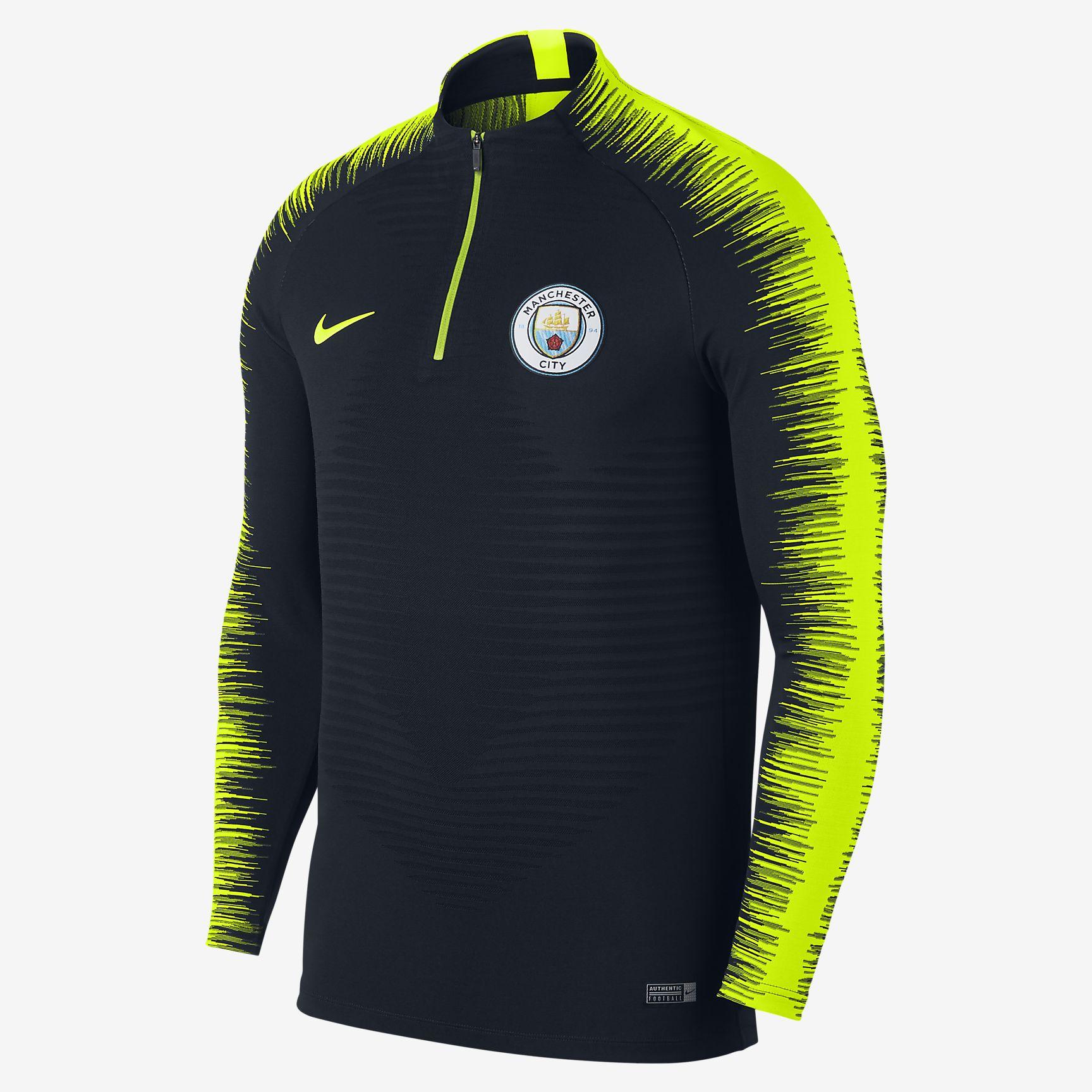 Nike Manchester City FC 2018-19 VaporKnit Strike Drill Long Sleeve Top -  Soccer Shop Manchester City Merchandise - Superfanas.lt d6659703f6a6