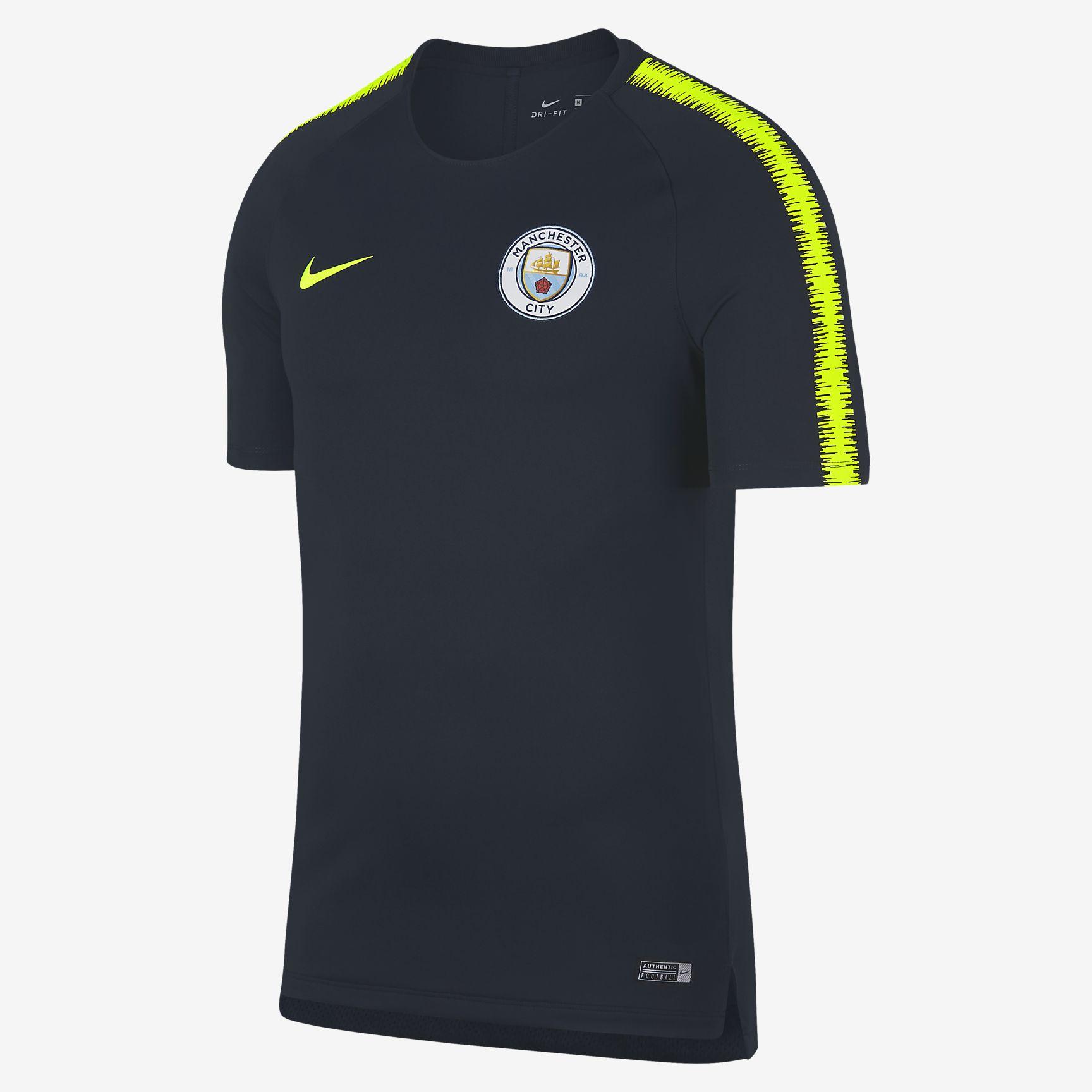 uk availability 7ce05 3b634 Nike Manchester City FC 2018-19 Breathe Squad Tee - Soccer Shop Manchester  City Merchandise - Superfanas.lt