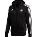 adidas Real Madrid 3 Stripes Full Zip Hoodie