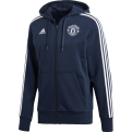 adidas Manchester United 3 Striped Full Zip Hoodie džemperis