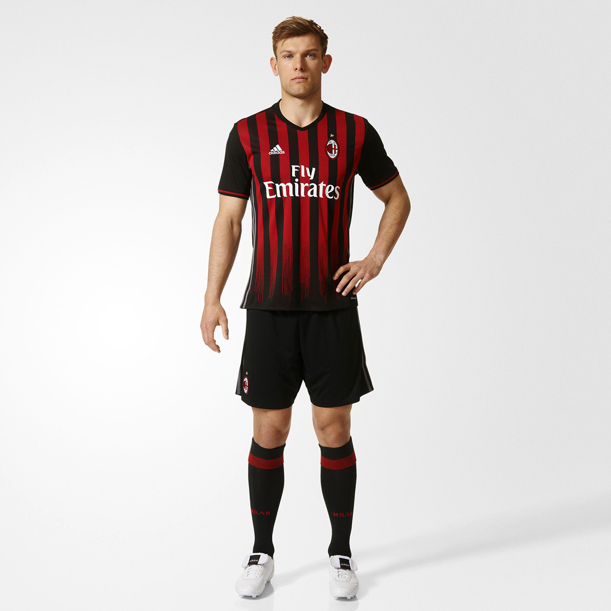 adidas ac milan 2016 17 home replica jersey soccer. Black Bedroom Furniture Sets. Home Design Ideas
