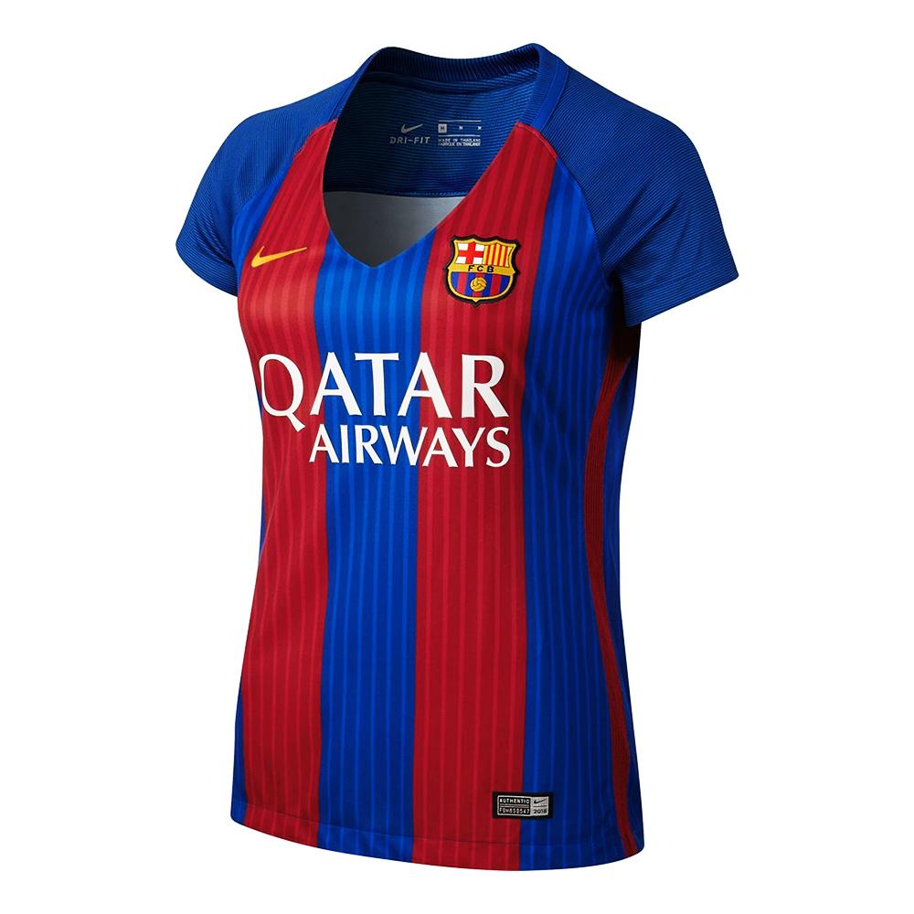 nike wmns fc barcelona stadium home jersey soccer shop. Black Bedroom Furniture Sets. Home Design Ideas