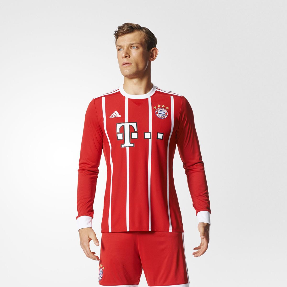 Adidas FC Bayern Munich Replica 2017-18 LongSleeve Jersey