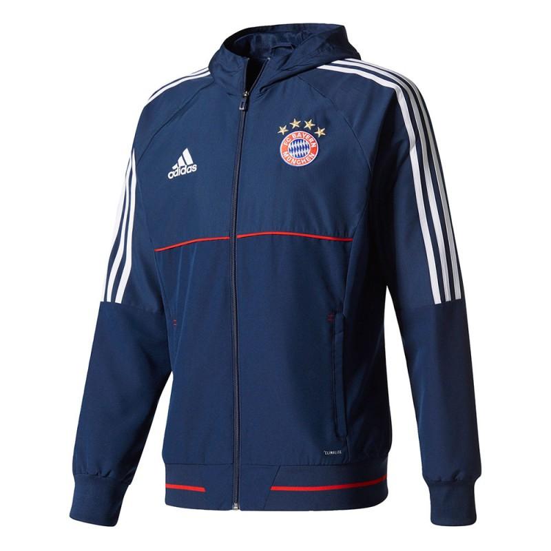 adidas fc bayern munich presentation hoodie soccer merchandise munich bayern merchandise. Black Bedroom Furniture Sets. Home Design Ideas