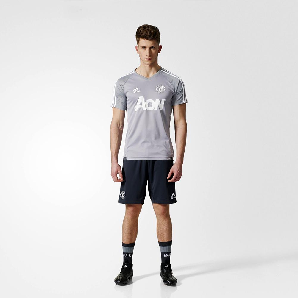 adidas manchester united fc training jersey soccer. Black Bedroom Furniture Sets. Home Design Ideas