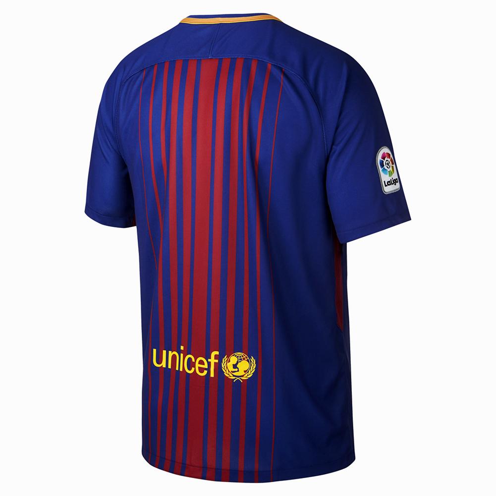 nike fc barcelona stadium home 2017 18 jersey soccer merchandise barcelona fc merchandise. Black Bedroom Furniture Sets. Home Design Ideas