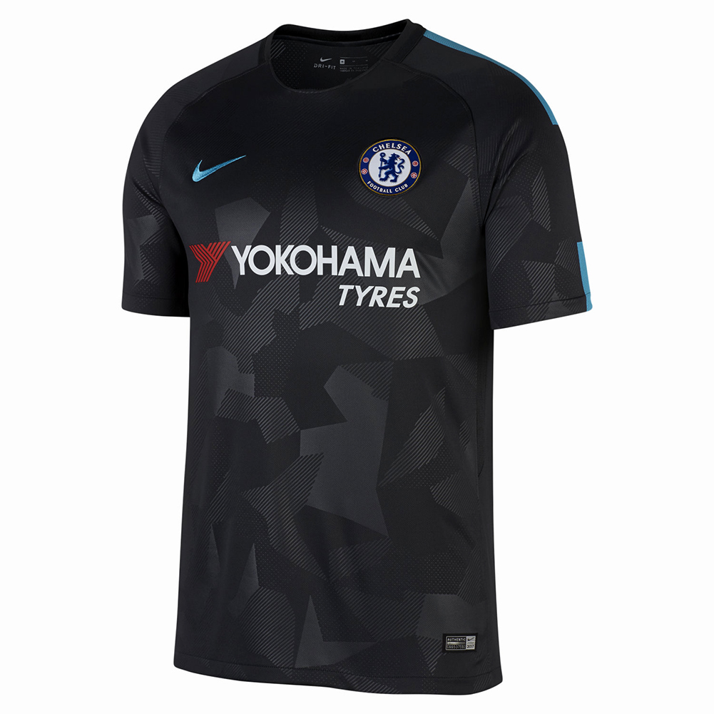 Nike chelsea 17 18 third stadium jersey soccer for Maillot inter exterieur