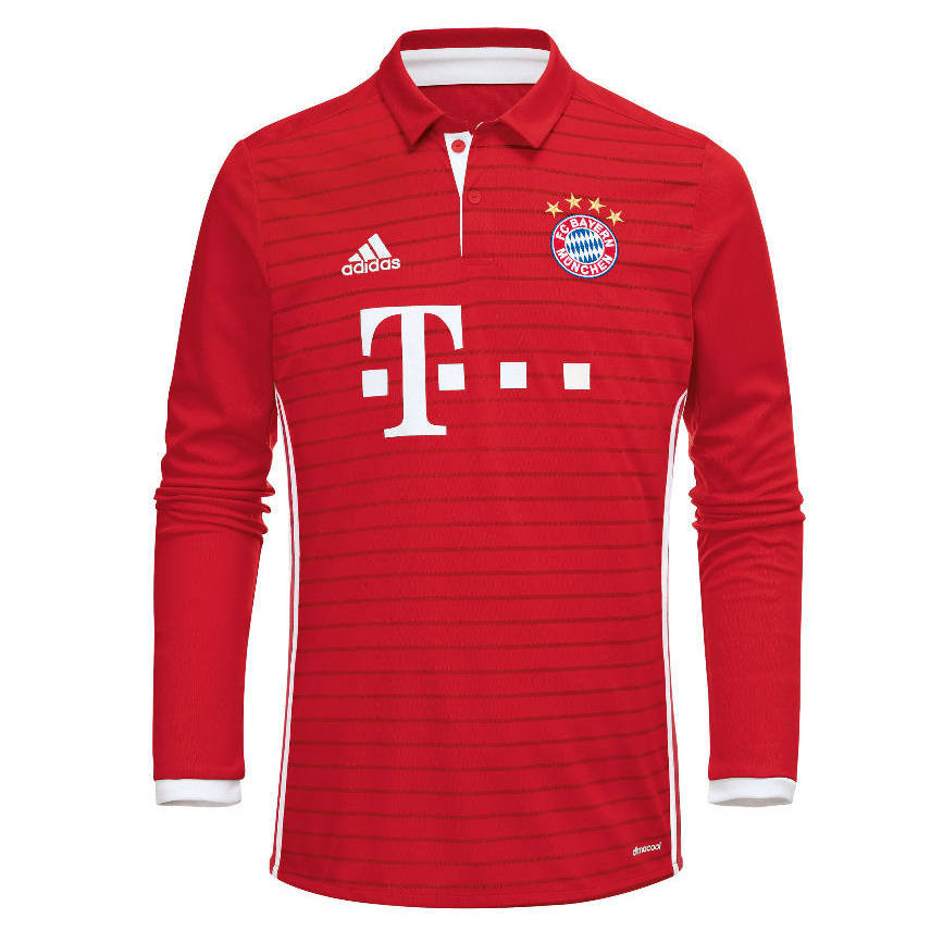 adidas fc bayern 2016 17 home replica jersey soccer. Black Bedroom Furniture Sets. Home Design Ideas