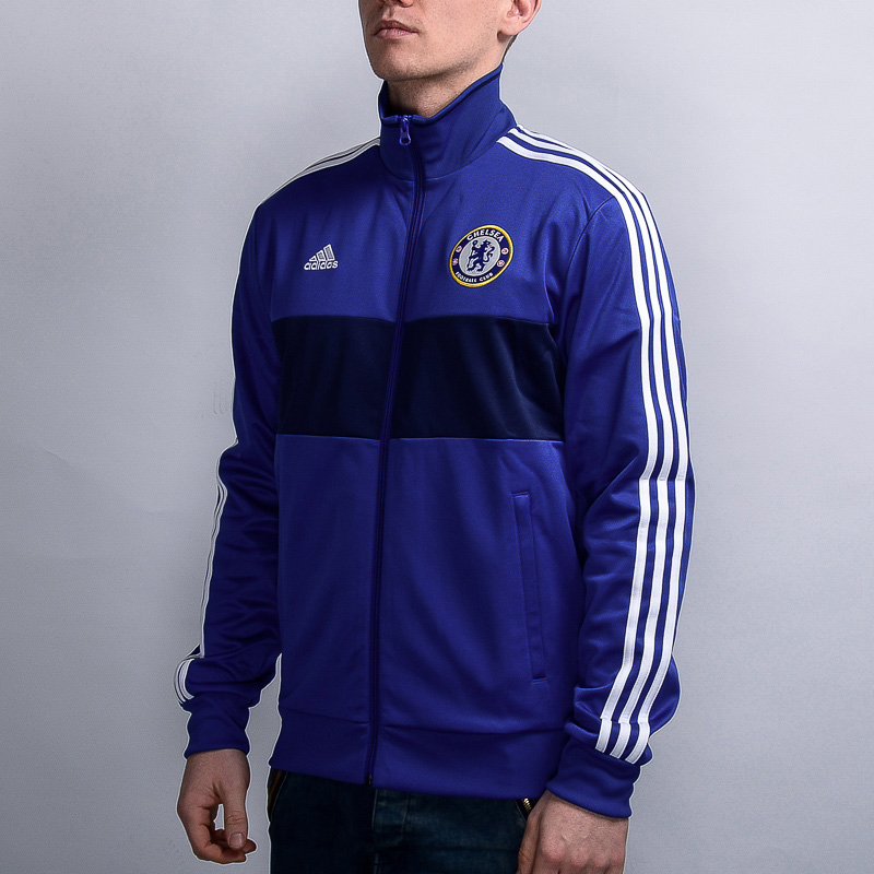 adidas Chelsea FC 3 Stripes Track Top - Soccer Shop London Chelsea  Merchandise - Superfanas.lt c506e0158