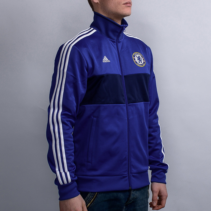 adidas Chelsea FC 3 Stripes Track Top - Soccer Shop London Chelsea ... 8558945a7