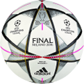 adidas Final Milano Official Match futbolo kamuolys
