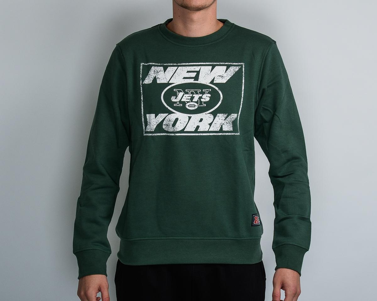 100% authentic 7a1d9 1a64f Majestic NFL New York Jets Edify Graphic Crewneck - MLB NFL ...