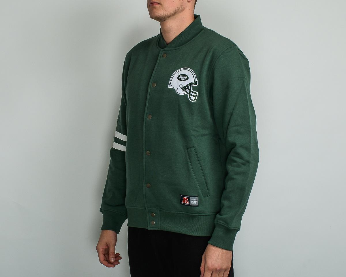 new concept 5feb4 fc33a Majestic NFL New York Jets Emodin Fleece Letterman Jacket ...