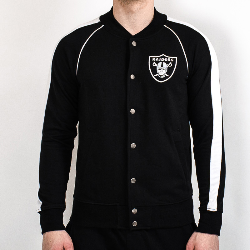 detailed look 21fae c08ac Majestic NFL Oakland Raiders Melter Fleece Letterman Jacket ...