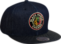 Mitchell & Ness NHL Chicago Blackhawks Raw Denim Snapback Kepurė