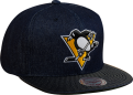 Mitchell & Ness NHL Pittsburg Penguins Raw Denim Snapback Kepurė