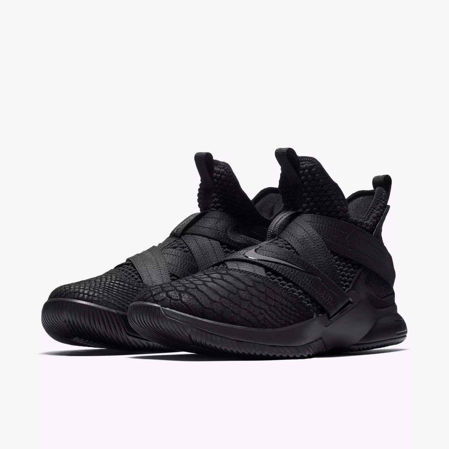 reputable site 0bb98 308f9 ... ebay nike lebron soldier xii sfg triple black basketball shoes fd3a3  55fc6