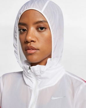 Nike Moteriška Impossibly Light Hooded Running plona striukė