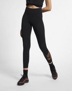 Nike Wmns Sportswear Animal Print Leggings (Size M)