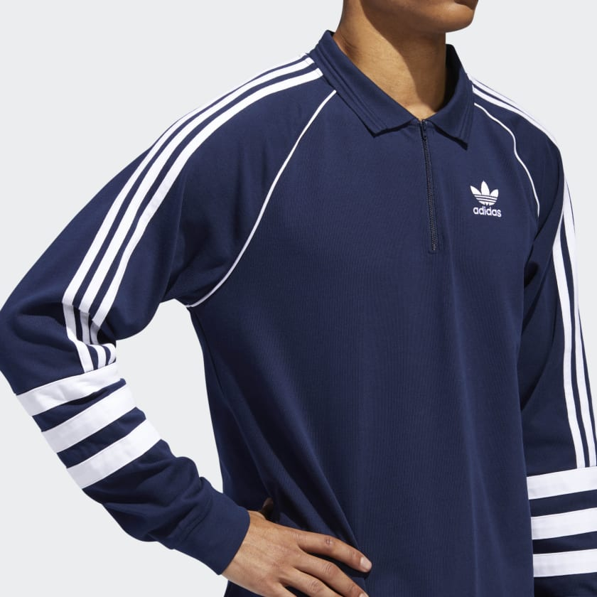 on sale 9ecc5 7537d adidas Originals Authentic Rugby Long Sleeve Top - SPORTING ...