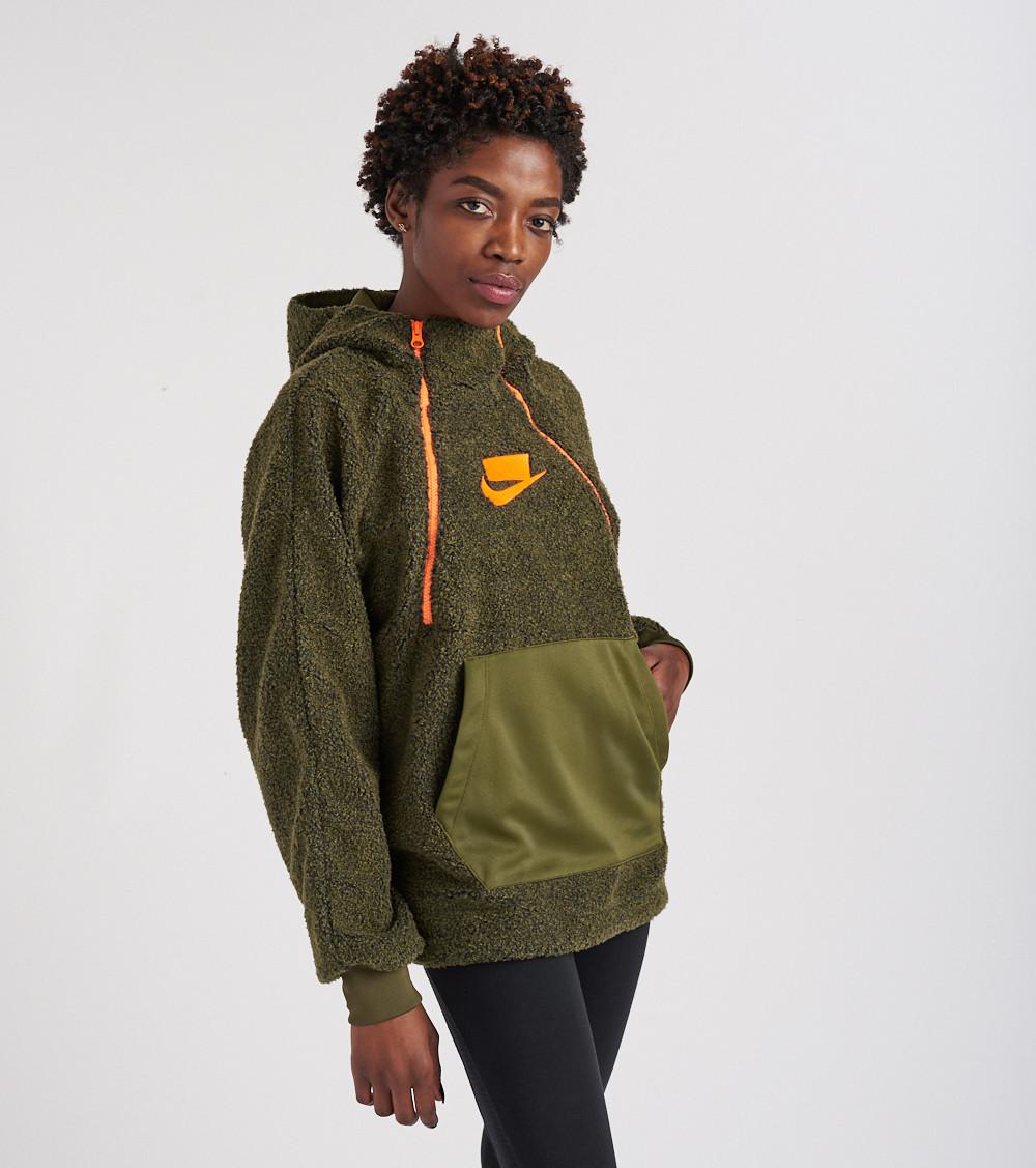 4975f2a9 Nike Wmns Sportswear NSW Pullover Sherpa Hoodie - SPORTING GOODS Sports  Hoodies | Sweatshirts - Superfanas.lt