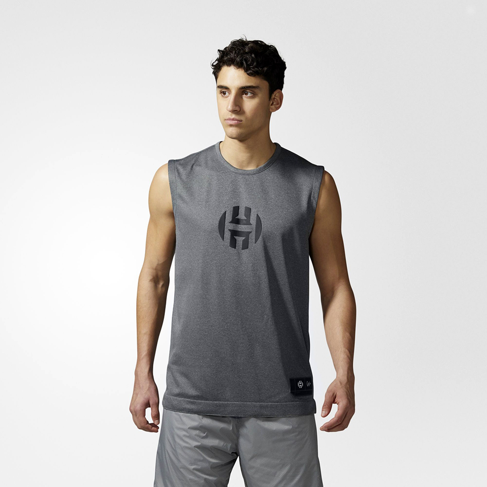 outlet store 52f88 8fc09 1 Playmaker Jersey White BK1243 adidas Harden Sleeveless Tee ...