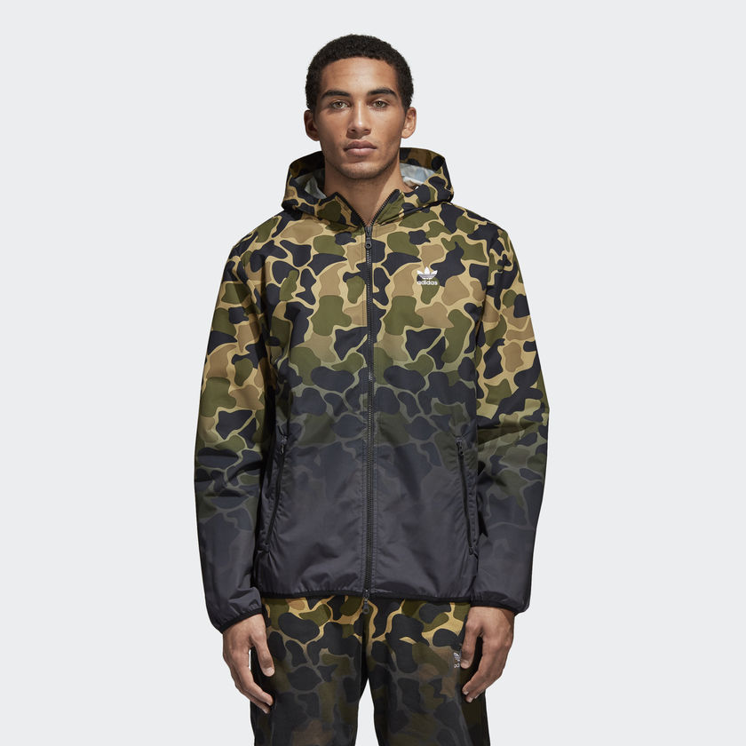 adidas originals camo windbreaker jacket sporting goods. Black Bedroom Furniture Sets. Home Design Ideas