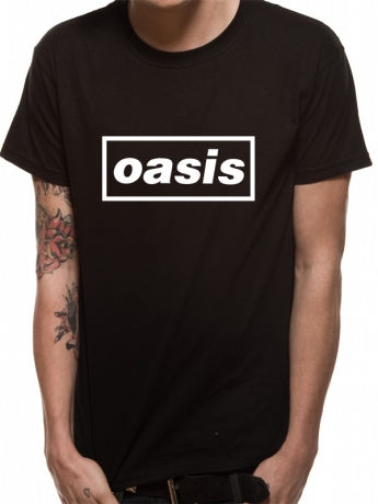 Oasis Black Logo Official Tee