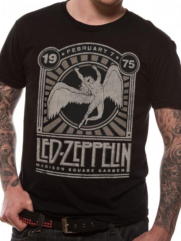 Led Zeppelin Madison Sq Garden Tee Music Merchandise Led Zeppelin Merchandise