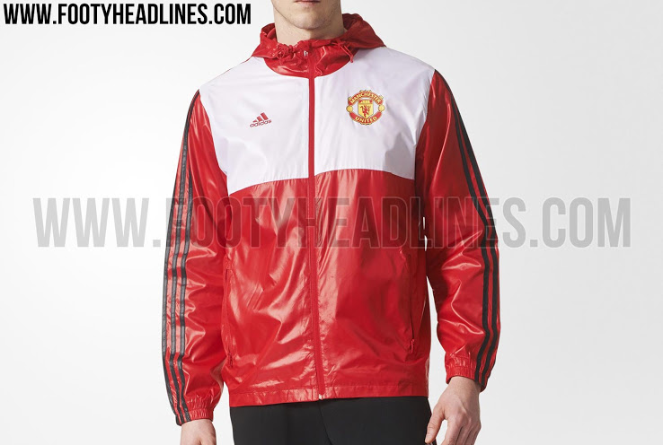 Adidas Manchester United 17-18 3 Stripes Windbreaker
