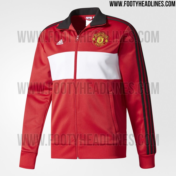 Adidas Manchester United 17-18 3 Stripes Track Top