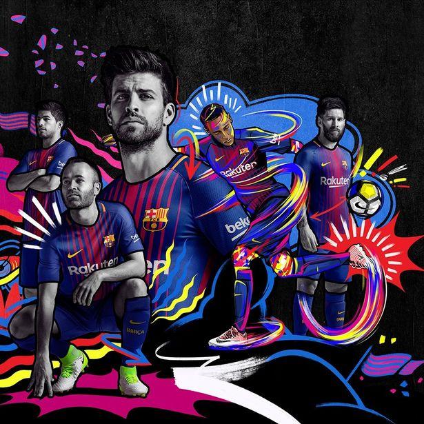 FC Barcelona 2017-18 sezono marškinėliai