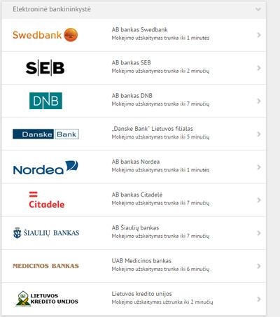 Visus Lietuvos bankus