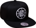 Mitchell & Ness NBA Los Angeles Clippers Black White Snapback Kepurė