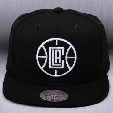 20fcca90b92 Mitchell   Ness NBA Los Angeles Clippers Black White Snapback Cap ...