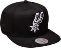 Mitchell & Ness NBA San Antonio Spurs Black White Snapback Kepurė