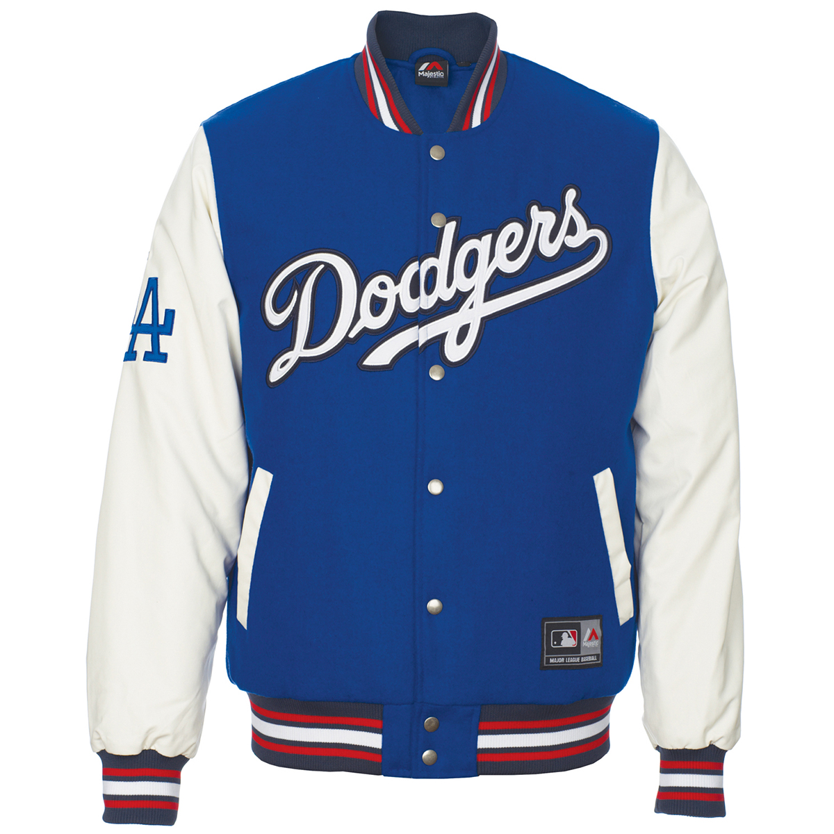 Majestic Mlb Los Angeles Dodgers Beecroft Letterman Jacket